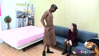 Stunner came only to hire a stripper, but SHE HAD TO Attempt DAT BLACK COCK!