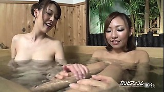 Naked girls bathtub pool voyeured