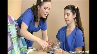 2 Nurses Milk Their Patient