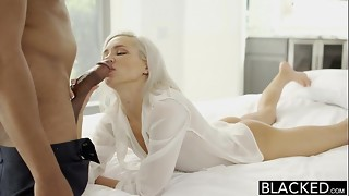 BLACKED Preppy Blond Girlfriend Kacey Jordan Cheats with BBC