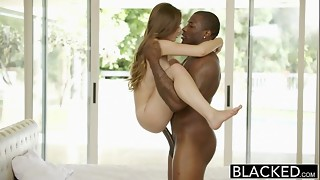 BLACKED Tiny Juvenile Angel Skye West 1st Interracial
