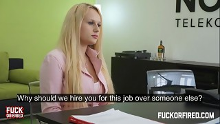 She Wants a Job and Loves It Up Her Ass